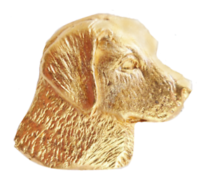 Exclusive to 1000 Flags Golden Retriever Gold Plated Pewter Pin Badge