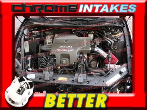 CF BLACK RED 00 01 02 03-05//2000 2001 2002-2005 CHEVY IMPALA 3.8L V6 AIR INTAKE
