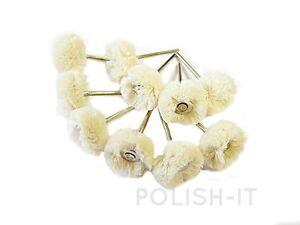10-off-Cotton-Yarn-wool-Mops-on-2-35mm-For-Pendant-Drills-Jewellery-Polishing
