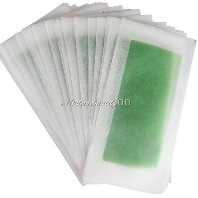 10 PCS ( DOUBLE SIDE ) Cold Wax Hair Removal Strips For Leg Body and Facial Hair