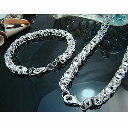 Fashion 925 Argent Femmes Parti Mignon Bracelet Collier Bijoux Set s29