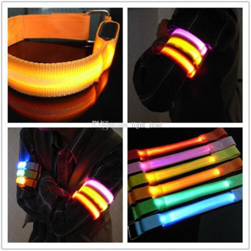 Rechargeable LED LIGHT ARMBAND//ANKLE BAND Glow Flash running sport bike cycling