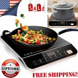 1800W Electric Single Induction Cooker Portable Burner Cooktop Digital Hot Plate