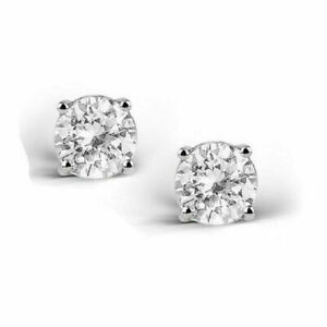 2-Carat-White-Topaz-925-Sterling-Silver-Stud-Earrings-6mm-Real-Silver