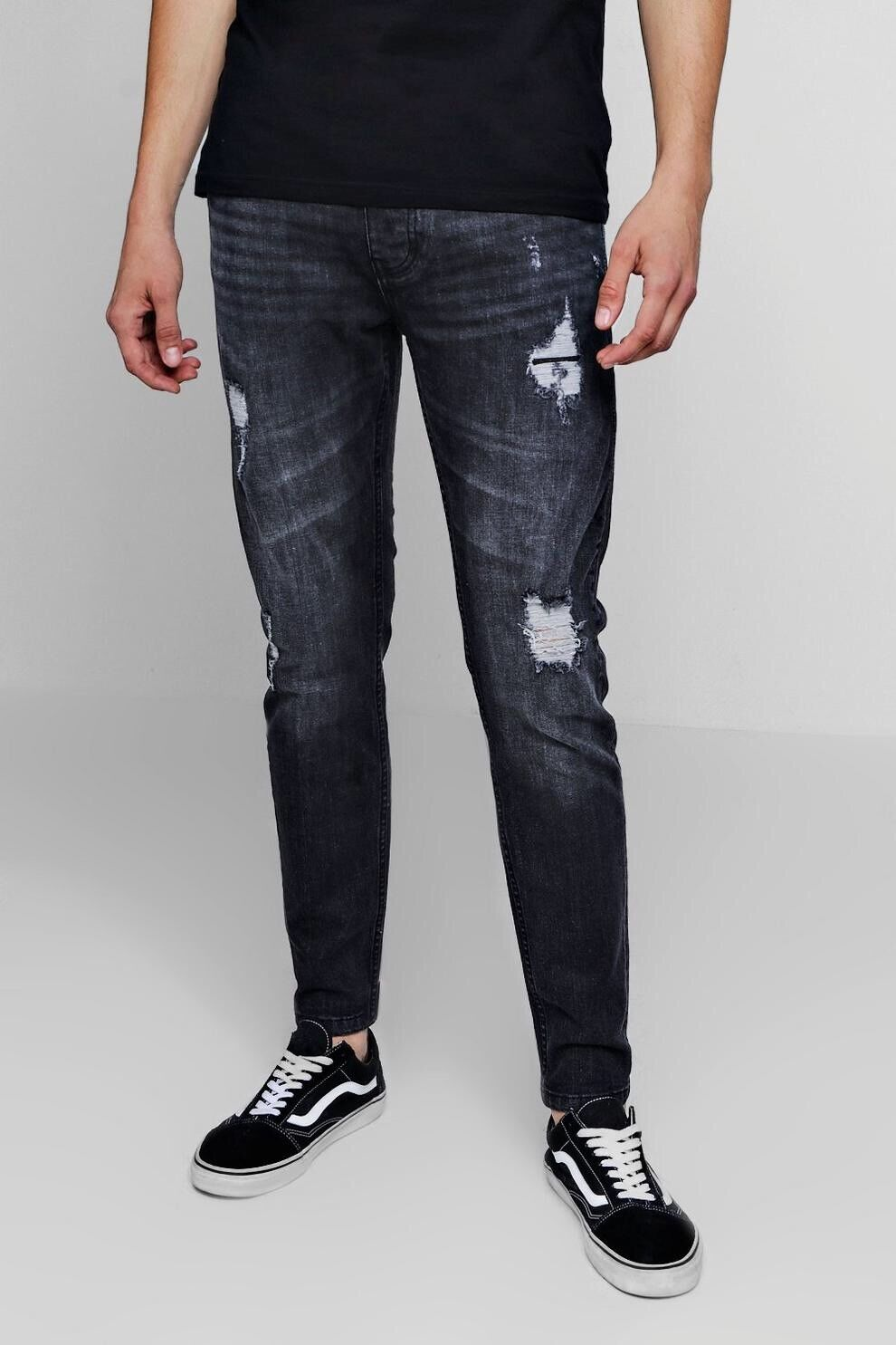 Threadbare - Skinny Ripped Distressed Jeans (Size 34R)