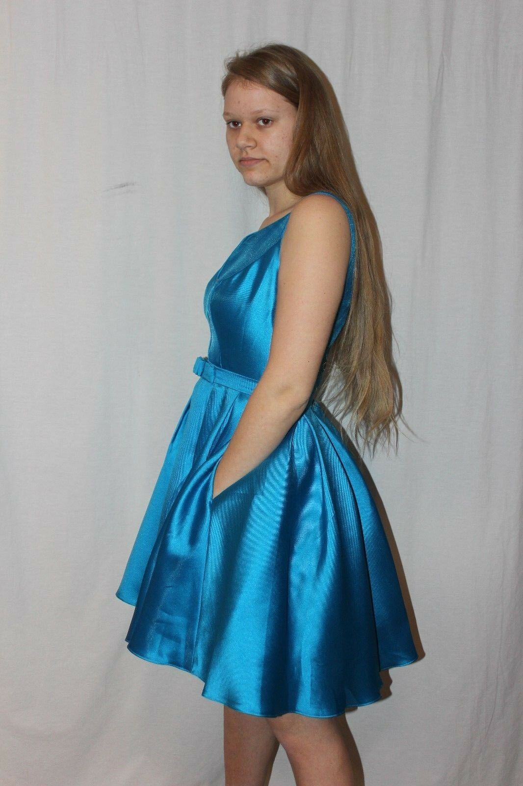 NWT Size 12Turquoise Sherri Hill S50506 Short formal homecoming dress