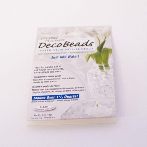 Cuentas de perlas de agua Aqua Deco acentos redondo del grano absorber Gel Floristry