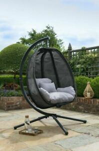 Black Swing Co Hanging Egg Chair, Hanging Egg Chair Outdoor Uk