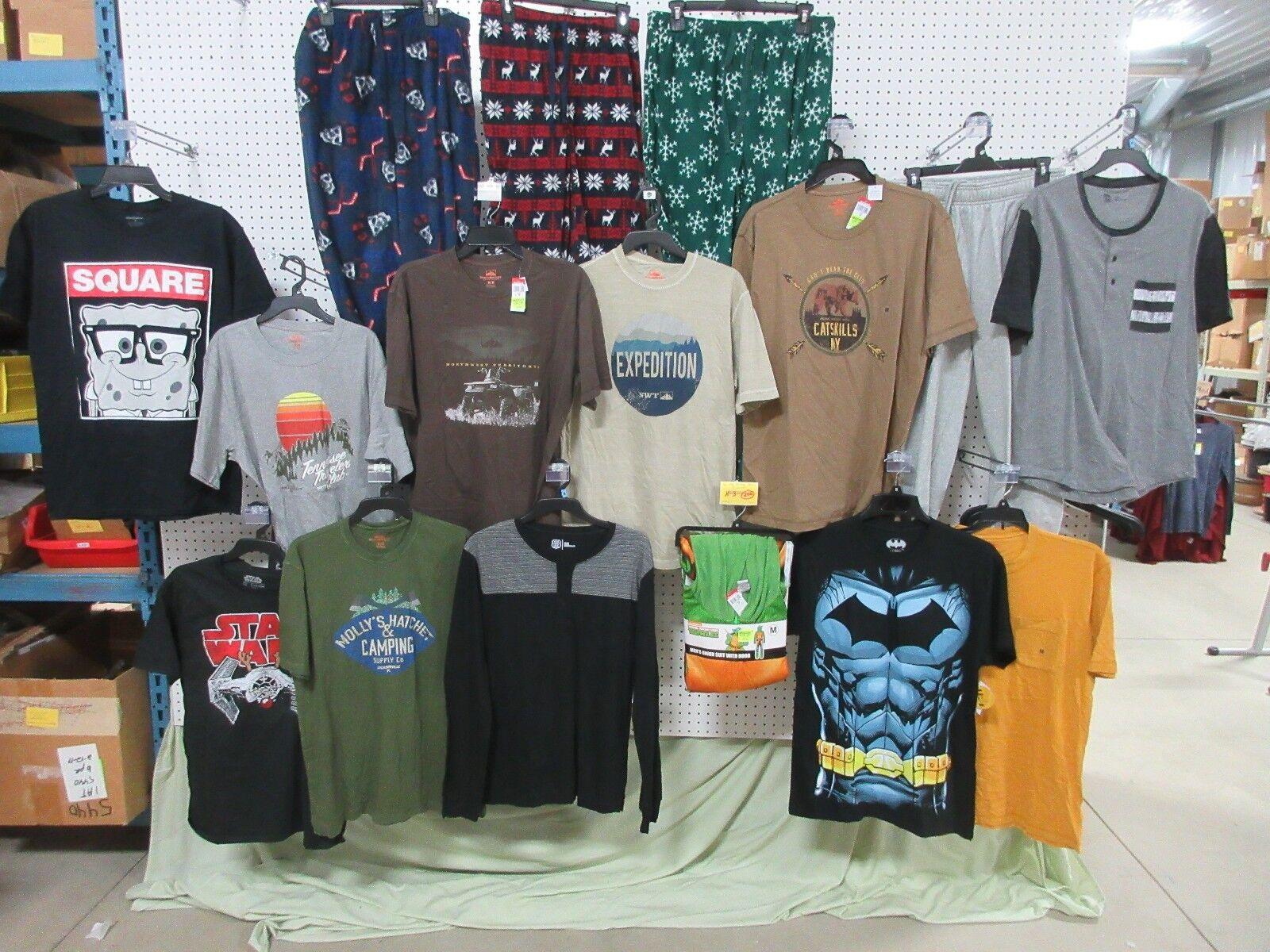15 T-SHIRTS ADULT  Herren MEDIUM CLOTHES LOT BATMAN STAR WARS JOE BOXER SWEATPANTS