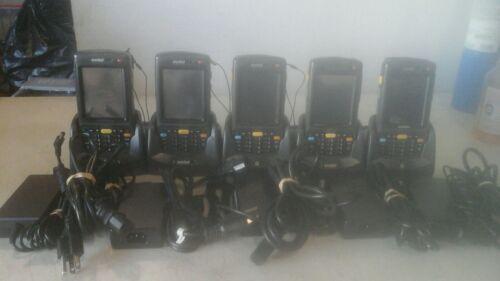 Lot of 5 Motorola Handheld Scanner MC7090 with Charging Cradle /& Power Supply