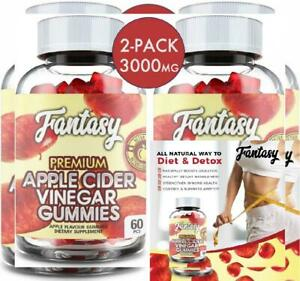 (2 Pack | 120 Gummies) Organic Apple Cider Vinegar Gummies