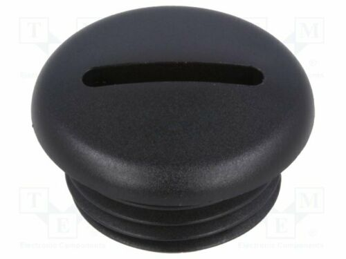 Polyamid Blende schwarz  Stopfbuchsen M16 Mat