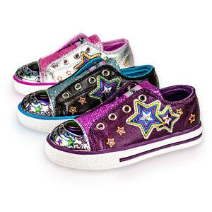 diMio-STAR-LED-Kinderschuhe-mit-BLINKFUNKTION-Blinkschuhe-Schuhe-fuer-Maedchen