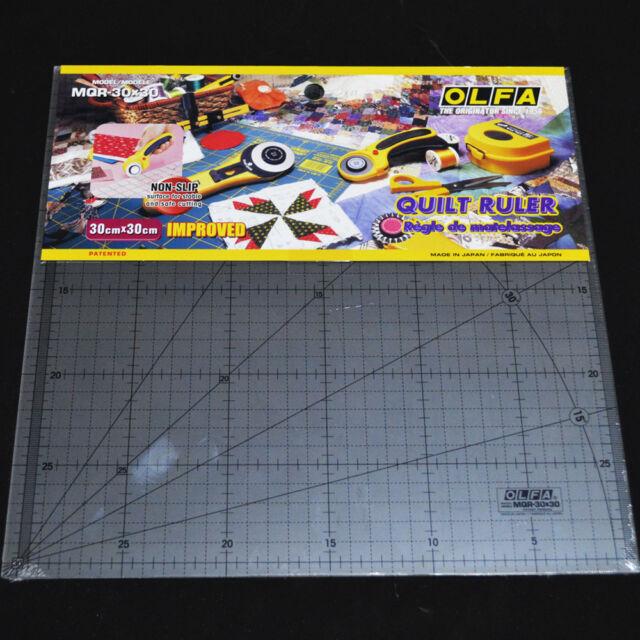 OLFA Quilt Ruler MQR 30X30 Acrylic Ruler