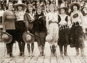 7-VINTAGE-WESTERN-RODEO-COWGIRLS-PHOTO-CANVAS-ART