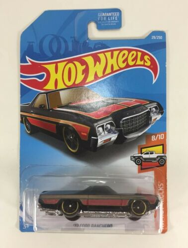 New Sealed Hot Wheels /'72 FORD RANCHERO Black Die Cast metal Car Collectible