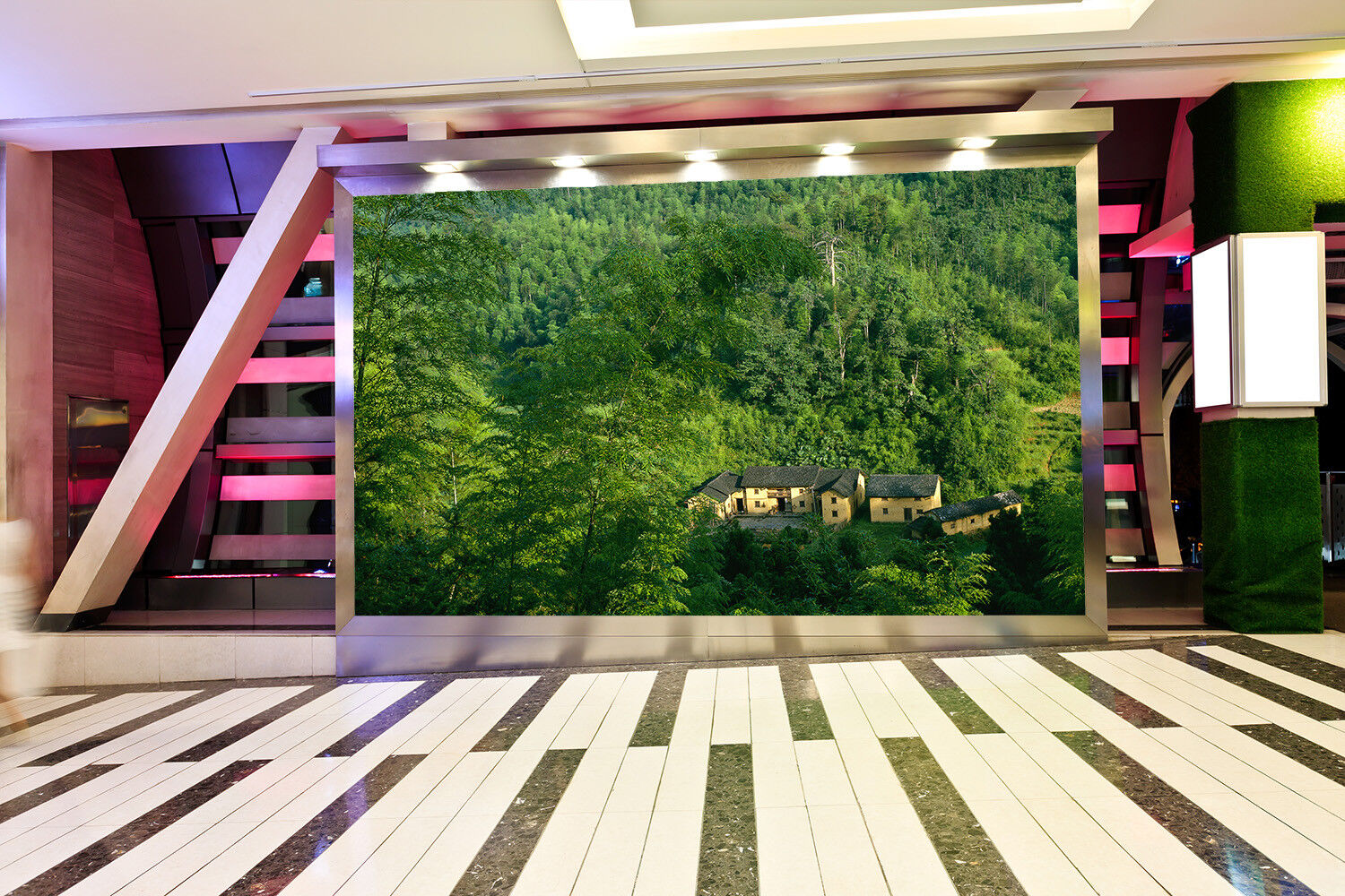 3D Grün Forest Houses 43 Wall Paper Wall Print Decal Wall Deco Indoor Mural