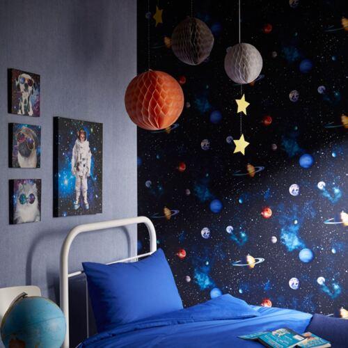 Espace Extra-Atmosphérique Cosmos Papier Peint Arthouse 668100 Charbon