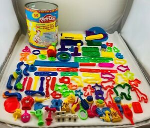 Play Doh 50th Birthday Collectors Can over 50+ Pieces in Great Condition