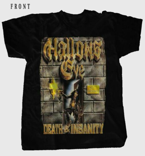 HALLOWS EVE-Death /& Insanity-Heavy Metal-Testament BLACK T-shirt Sizes S to 7XL