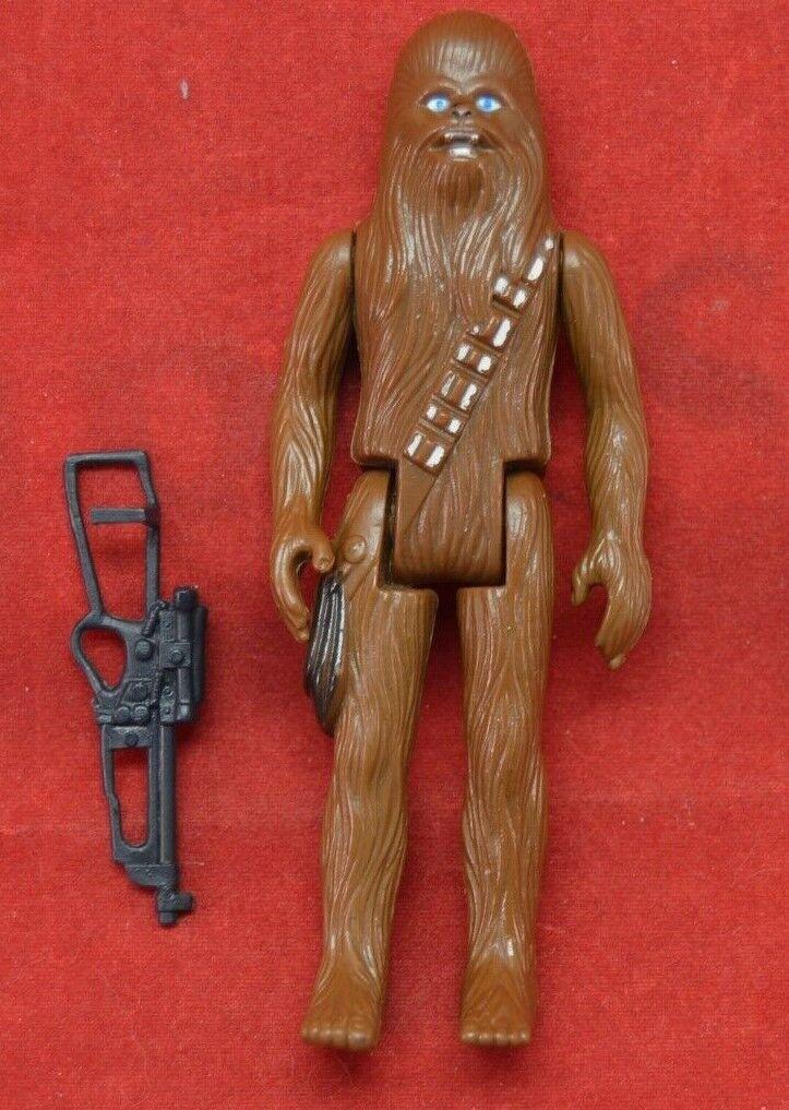 Vintage 100% 100% 100% original Kenner Star Wars Chewbacca Complete w  Bowcaster Gun d88937