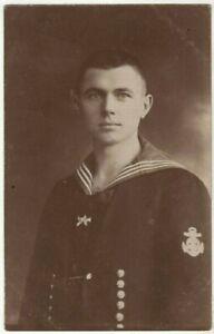 WW1-GERMAN-EMPIRE-SAILOR-WAR-NAVY-ANTIQUE-RPPC-PHOTO-POSTCARD