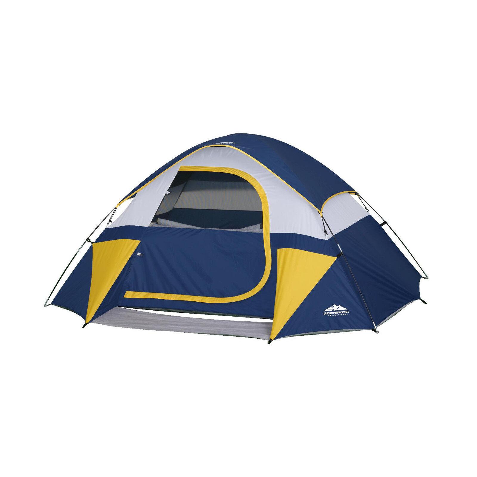 Northwest Territory Sierra tienda de la bóveda camping, senderismo hasta 3 personas-Azul