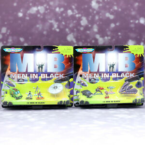 MEN-IN-BLACK-MIB-GALOOB-MICRO-MACHINES-COLLECTION-2-amp-4-Set-Figure-1997-Vintage