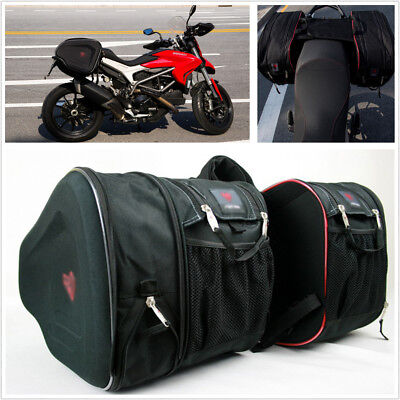 One Pair Waterproof 900D Encryption Oxford Motorbike Storage Luggage Saddle Bags