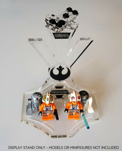 Display stand angled slots for Lego X-Wing-BK 75218-75102-9493-75149 A1051