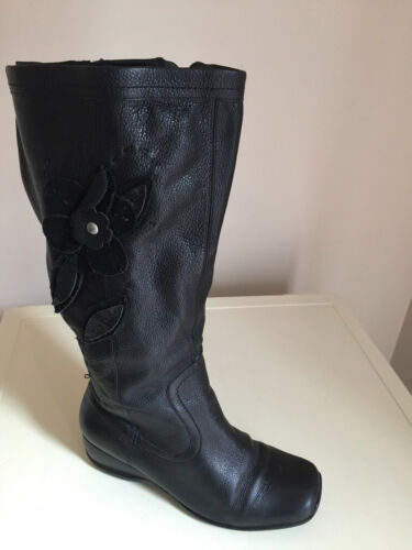Knee Women High Black 4 Size Boots Emotion Leather wxT1Bqgx