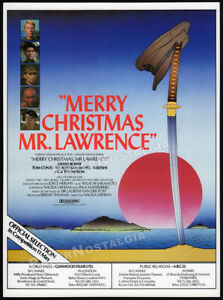 MERRY-CHRISTMAS-MR-LAWRENCE-Original-1983-Trade-print-AD-promo-DAVID-BOWIE