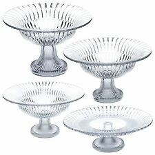 Pasabache Large Glass Footed Cake Platter Salad Fruit Bowl Dish Serving Display