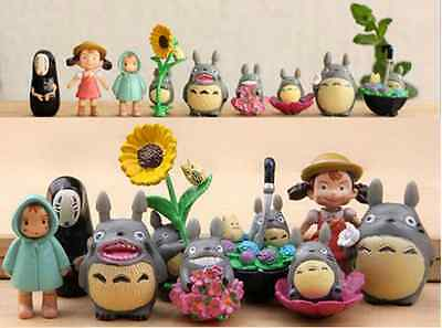 My Neighbor Totoro Spirited Away 9 PC Figures US seller Gift Toy for Boys Girls