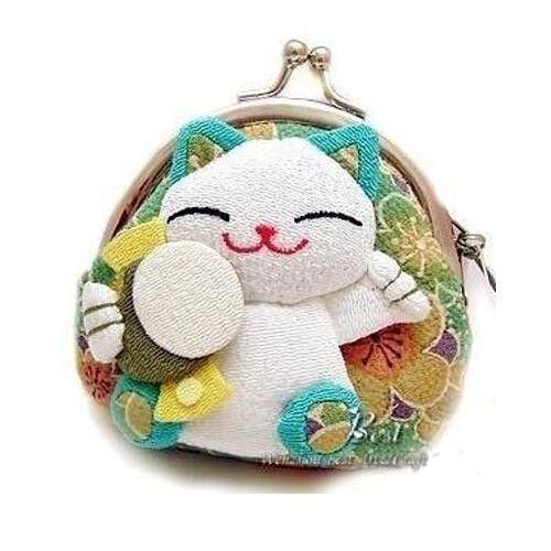 Big Demand Japanese Lucky Cat Cartoon Wallet Kimono Fabric Coin Purse Bag Trendy
