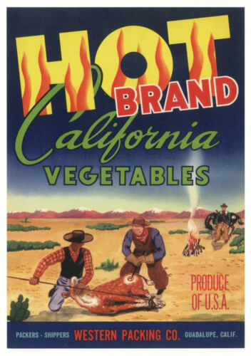 *Original* HOT Western Cowboys Branding Iron Cow Vegetable Label NOT A COPY!