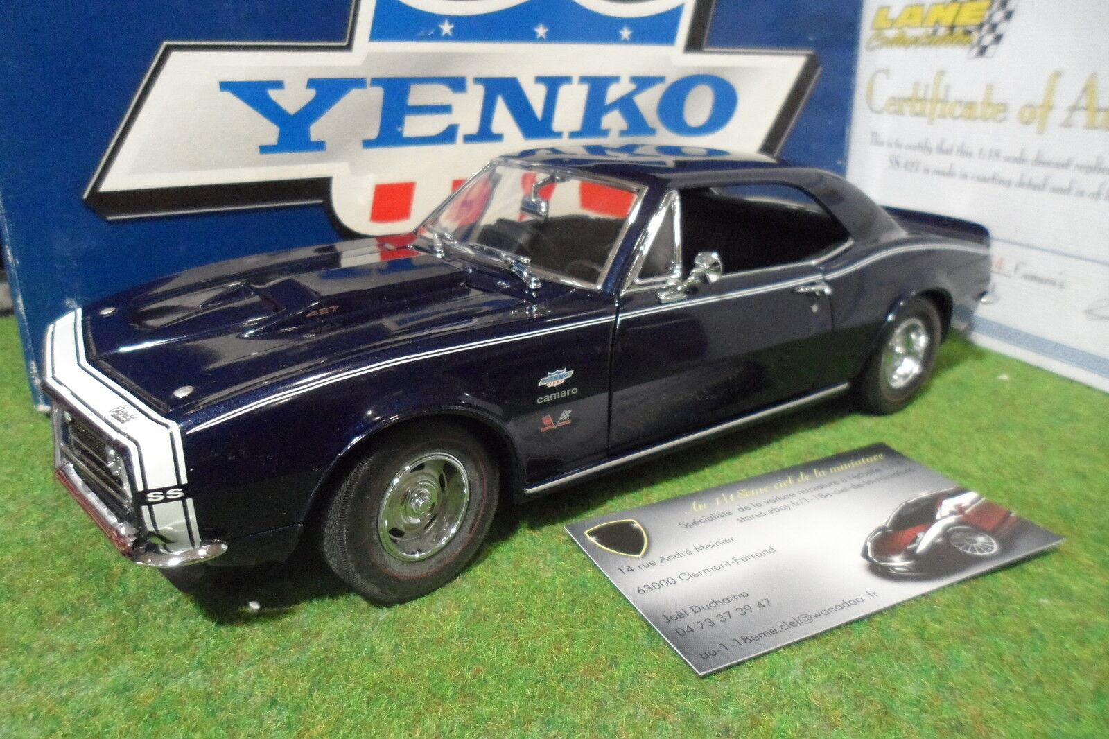 CHEVROLET CAMARO SS RS 427 YENKO 1967 bleu au 1 18 EXACT DETAIL WCC206SC voiture