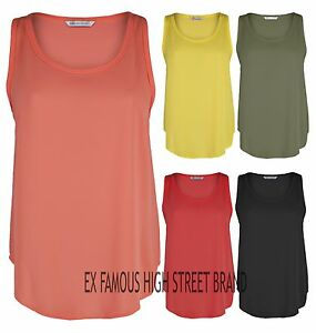 Ladies-EX-Stores-Sleeveless-Top-Summer-Casual-Sheer-Chiffon-Cami-Vest