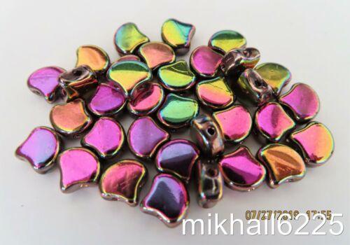 Crystal Full Vitex 20 7.5 x 7.5 mm Czech Glass Matubo Ginkgo Leaf Beads