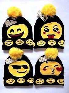 95dab77c9c8bd WINTER EMOJI HAT ADULT WARM HAT SMILEY HAT EMOJI BOBBLE HAT FOR ...