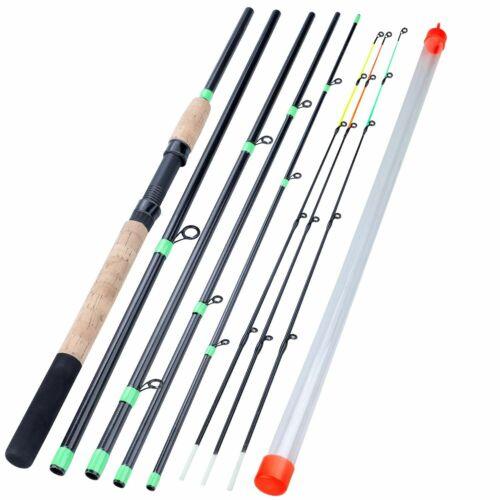 Telescopic Orange Green Black Lengthened Handle Feeder Fishing Rod 6 Section