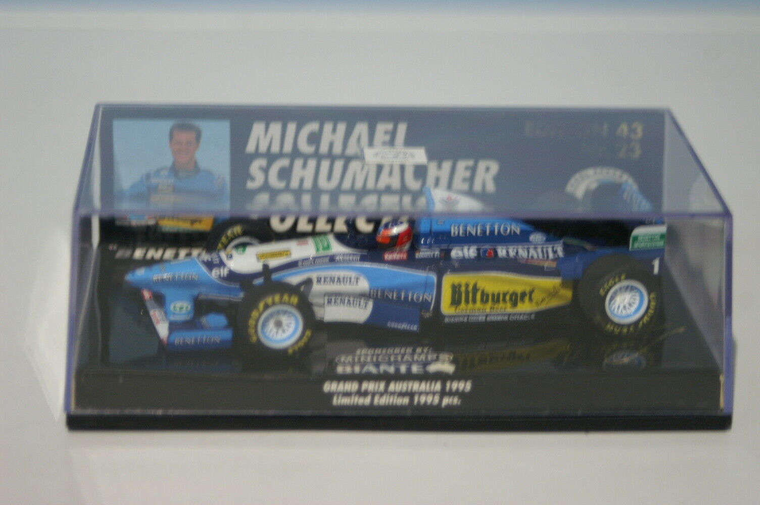 Minichamps BENETTON RENAULT B195 M. Schumacher 510 954317 en escala 1 43