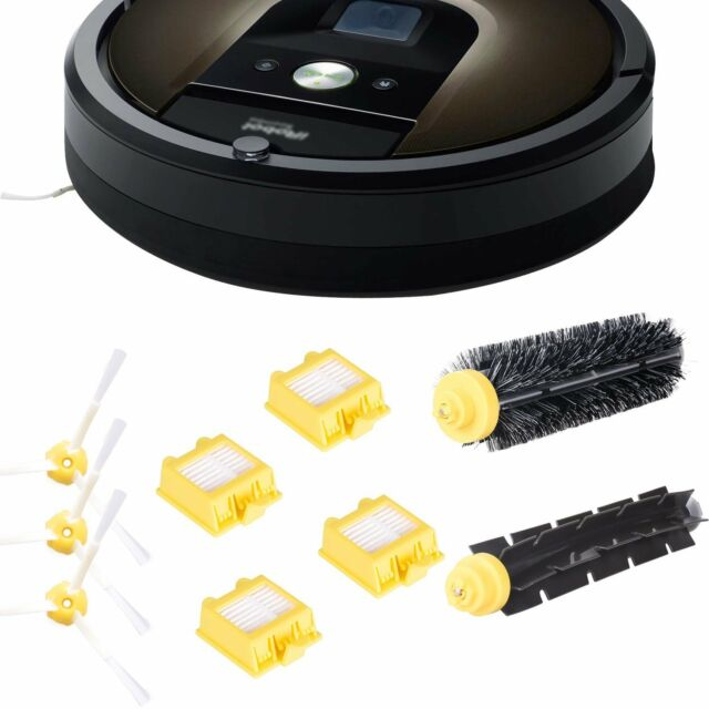 Cleaning Tool IRO-700 3pc Side Brush Includes 6 Pc Filter Smartide Accessory Kit for Irobot Roomba 700 760 770 780 790 Vacuum Cleaner Kit and 1 Pc Bristle Brush and Flexible Beater Brush