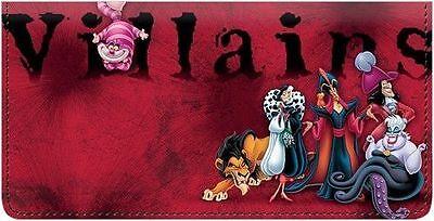 Little Villainesses Holder Checkbook Cover Disney Themed