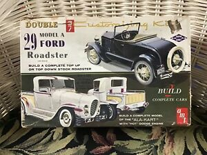 AMT-29-Ford-Model-A-Roadster-Ala-Kart-Double-Kit-Vintage-Original-T-129-200