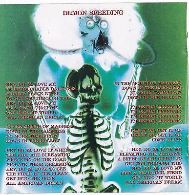 Rob Zombie Band DECAL STICKER Heavy Metal Music Album Art Skull Demon Speeding