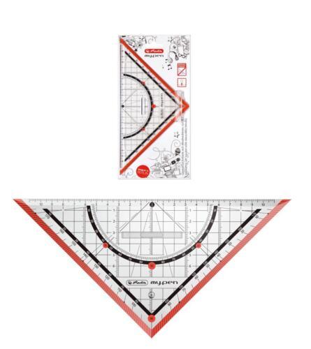 "rot mit Griff Farbe Herlitz Geometriedreieck /""my.pen/"" 25cm"