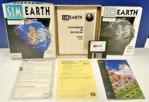 Sim-Earth-For-Mac-3-5-Floppy-Big-Box-CIB-Complete-Macintosh-Game-Rare-Vintage