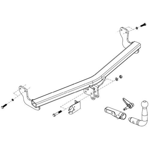 Oris Towbar for DS Automobiles DS3 Hatchback 2015-2019 Eco Detachable Tow Bar