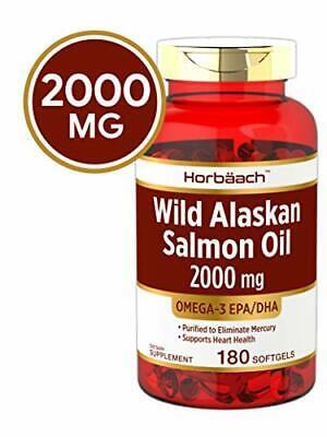 Wild Alaskan Salmon Fish Oil 2000 mg   180 Softgel ...